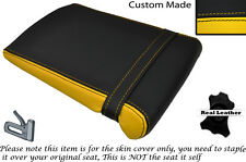 YELLOW & BLACK CUSTOM FITS YAMAHA 1000 YZF R1 98-99 REAR LEATHER SEAT COVER