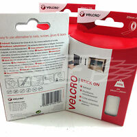 VELCRO® STICK ON 20mm x 1 meters WHITE HOOK AND LOOP SELF ADHESIVE STICKY BACKED