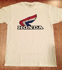 HONDA t-shirt LARGE motorcycle cbr wing crf RED WHITE BLUE RETRO