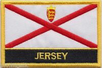 Jersey Channel Islands Flag Embroidered Patch Badge - Sew or Iron on