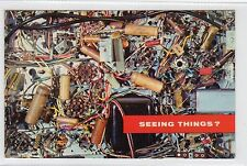 SEEING THINGS?: USA postcard advertising RCA TV Tubes (C23880)
