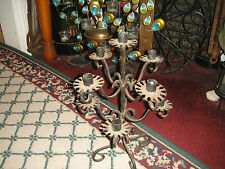 Vintage Wrought Iron Gothic Candelabra Candlestick Holder-Holds 9 Candles-LQQK