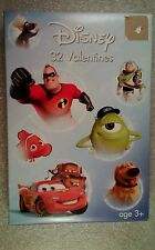 32 Disney  Cars Toy Story Nemo + Valentine Day Cards   Box  damage
