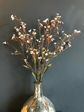 Faux Brown Gypsophila. Realistic Artificial Bunch of Baby's Breath, Wax Flowers
