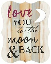 """Typography Expressions """" Love you to the Moon And Back"""" Wall Décor by Carson"""