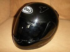 ARAI QUANTUM II BLACK FULL FACE VENTED STREET RACING MOTORCYCLE HELMET SNELL  SM