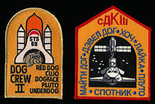 2 NASA DOG CREW - II + (STEALTH) DOG CREW III SHUTTLE STS-69 AND STS-88 PATCHES