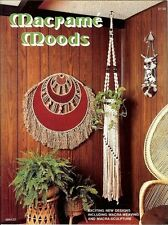 Macrame Moods Vintage Pattern Instruction Book Shower Curtain Plant Hangers NEW