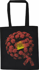THE STRANGLERS BLACK COTTON TOTE SHOPPER BAG NO MORE HEROS ROSE WREATH ROCK