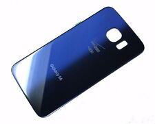 Samsung Galaxy S6 Verizon G920V Back Glass Cover Battery Door Blue Replacement