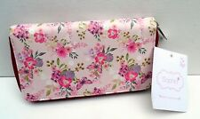 "LADIES PURSE-LARGE PINK FLORAL ""Wipe Clean"" Louise Tiler DESIGN-6 COMPARTMENTS"