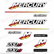 Mercury 200xs Optimax Racing Outboard Engine Decal Kit 2003 - 2004 200hp Decals