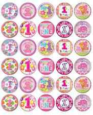 1st First Birthday Girl Cupcake Toppers Pink Edible Paper BUY 2 GET 3RD FREE!