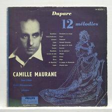 CAMILLE MAURANE, LILY BIENVENU - DUPARC 12 melodies PHILIPS minigroove LP