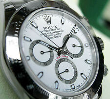 Rolex DAYTONA 116520 Mens Stainless Steel Oyster Bracelet White Index Dial 40MM