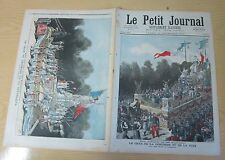 Le petit journal 1892 N° 96 Fête nationale 22 septembre Chars concorde paix