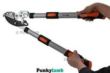 Telescopic Ratchet Garden Tree Branch Anvil Lopper Pruner Bypass Cut Loppers NEW