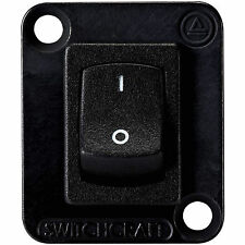 Switchcraft EHRRSLB Curved Rocker Switch I/O DPDT Black with