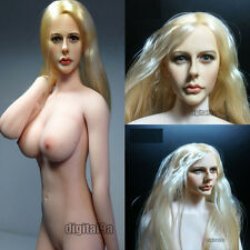 NEW Phicen 1/6 Wwhite Color Chest Sexy Beauty Doll 07C Body+KUMIK 13-1 Head Set