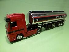 HONGWELL MERCEDES BENZ ACTROS TRUCK + TANKER DELTA ROUTE- 1:43 - GOOD CONDITION