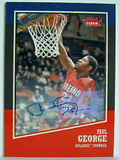 Paul George 2013 14 Fleer Retro Auto Autograph Mint Pacers Fresno State Bulldogs