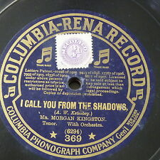 """78rpm 12"""" MORGAN KINGSTON i call you from the shadows / onaway awake beloved"""
