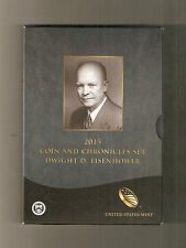 2015 Dwight D Eisenhower Coin and Chronicle Set (AX2)
