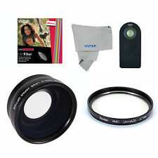 Wide Angle Macro Lens +UV FILTER +REMOTE For Canon REBEL EOS T3 T2 T5 T5I XT T1