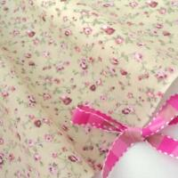 MOLLY - BEIGE / PINK FLORAL vintage COTTON FABRIC VINTAGE per full metre