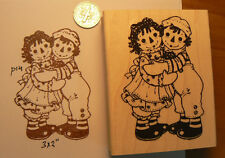 "Raggedy Ann & Andy rubber stamp WM 2x3"" Larger size"