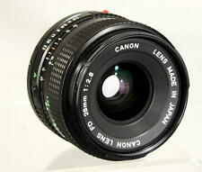 Near-Mint Canon Lens FD 28mm 1:2.8 Wide Angle Looks and Works Great #693944