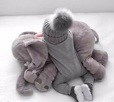 PLUSH BABY PILLOW LARGE CUDDLY STUFFED ELEPHANT CUSHION TEDDY INFANT APPEASE