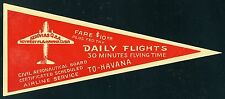 Aerovias Q Daily Flights to Havana Airline Baggage Label Sticker
