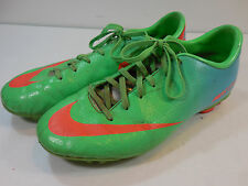 Nike Mercurial Soccer Cleats Youth Junior 5.5Y Flourescent Green Used Shoes Jr