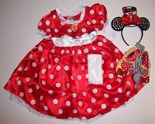 NWT Disney Store Minnie Mouse S 5-6 Costume Dress Ears Headband Gloves & Shoes