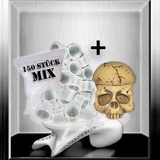 Skull Farbkappenhalter +150 Farbkappen Set für Tattoofarbe Tattoomaschine ★TOP★
