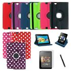 360 PU Leather Case Cover Stand for Kindle Fire HD 7 Stylus Bundle 2012 Ver ONLY