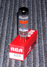 One RCA 6X4 full-wave, rectifier ~ NEW-NOS, test perfect, new in box.