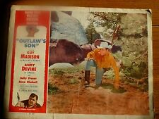 Lobby Card, Outlaw's Son, Guy Madison & Andy Devine 1954