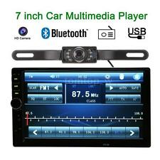 Double 2 DIN HD Car Stereo FM Radio MP5 Player Bluetooth USB/TF With Camera H5W5