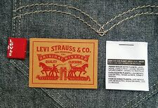 10 Levi's Levis Levi Strauss Jeans Leather Patch Label & Red Tab + FREE Shipping