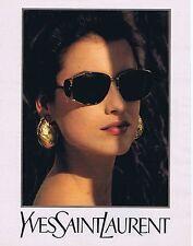 PUBLICITE ADVERTISING 114 1993 YVES SAINT LAURENT lunettes de soleil