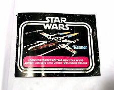 12 BACK MINI CATALOG X-WING FIGHTER • VINTAGE KENNER STAR WARS WEAPON PARTS