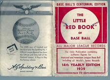 1939 The Little Red Book of Baseball Records - beat up - as is
