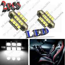 2pcs Xenon White 3528 LED Lights 27mm /28mm 12 SMD Dome Map Light DE3021, DE3022