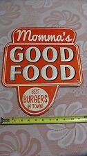 Momma's Good Food Best Burgers in Town Restaurant Sign Modern Kitchen Diner Meta