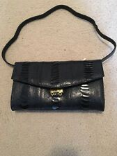 Rare CAPE COBRA GENUINE OSTRICH SKIN SHOULDER BAG 60's Beautiful