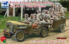 BRONCO CB35169 - 1/35 BRITISH AIRBORNE TROOPS RIDING IN 1/4 TON TRUCK & TRAILER