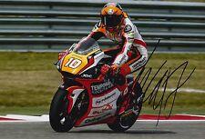 Luca Marini Hand Signed 12x8 Photo Forward Racing Kalex Moto2 2016 MOTOGP 1.