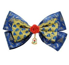 Disney Beauty & The Beast Enchanted Rose Cosplay Hair Bow Tie Hair Clip Gift NWT
